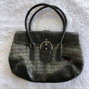 Coach Soho Signature Flap Buckle Handbag